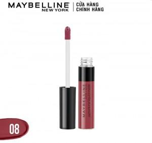Son kem lì Maybeline Sensational hồng đất #08
