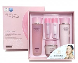 Set 3W Clinic Flower Effect Extra Moisturizing Skin Care