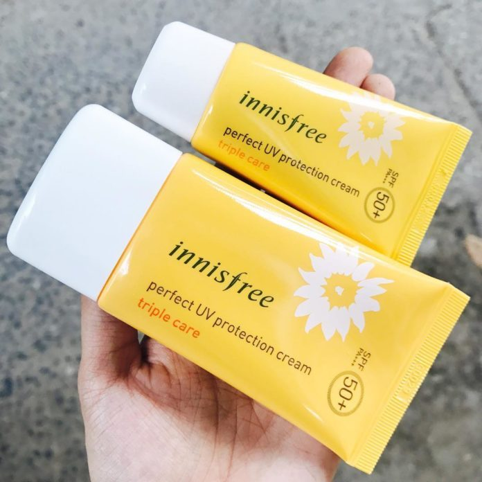 Review kem chong nang innisfree perfect uv protection cream 1