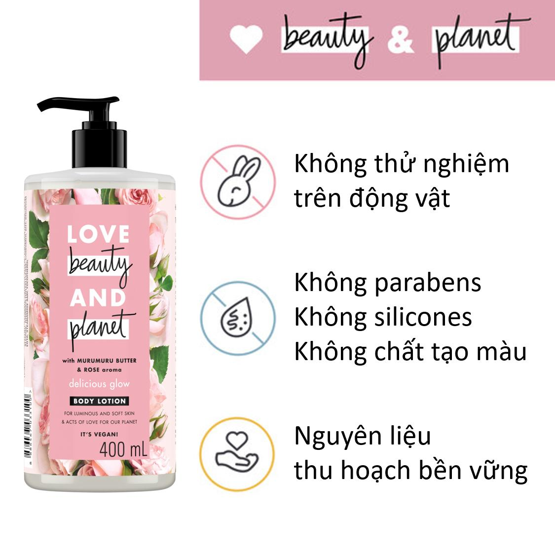 love beauty planet sua duong the hong sang da 400ml 2