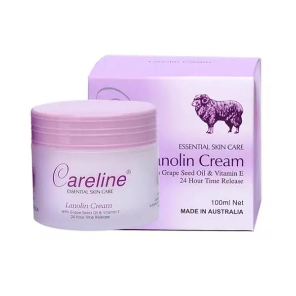 Kem Dưỡng Ẩm Cừu Tím Lanolin Cream Careline Úc 100ml
