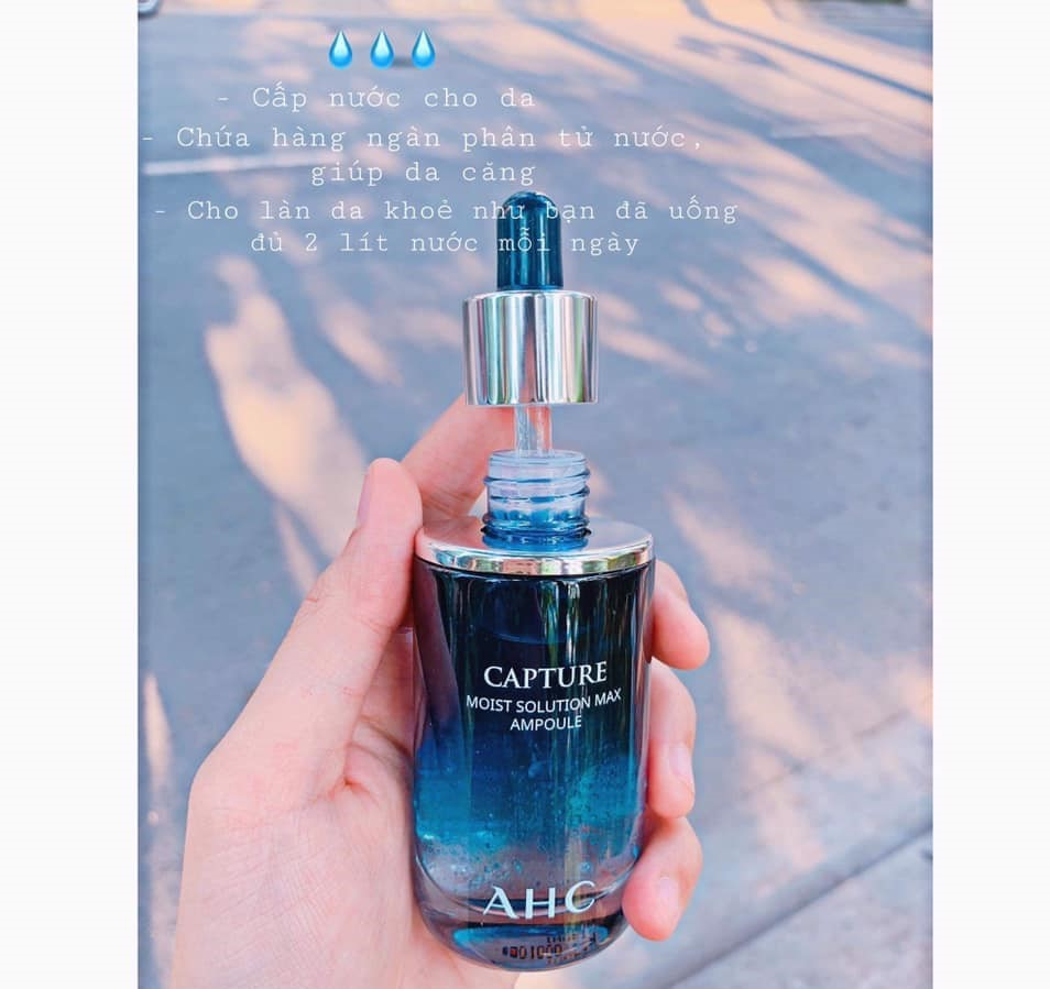 serum ahc capture moist solution max ampoule 50ml xanh 5