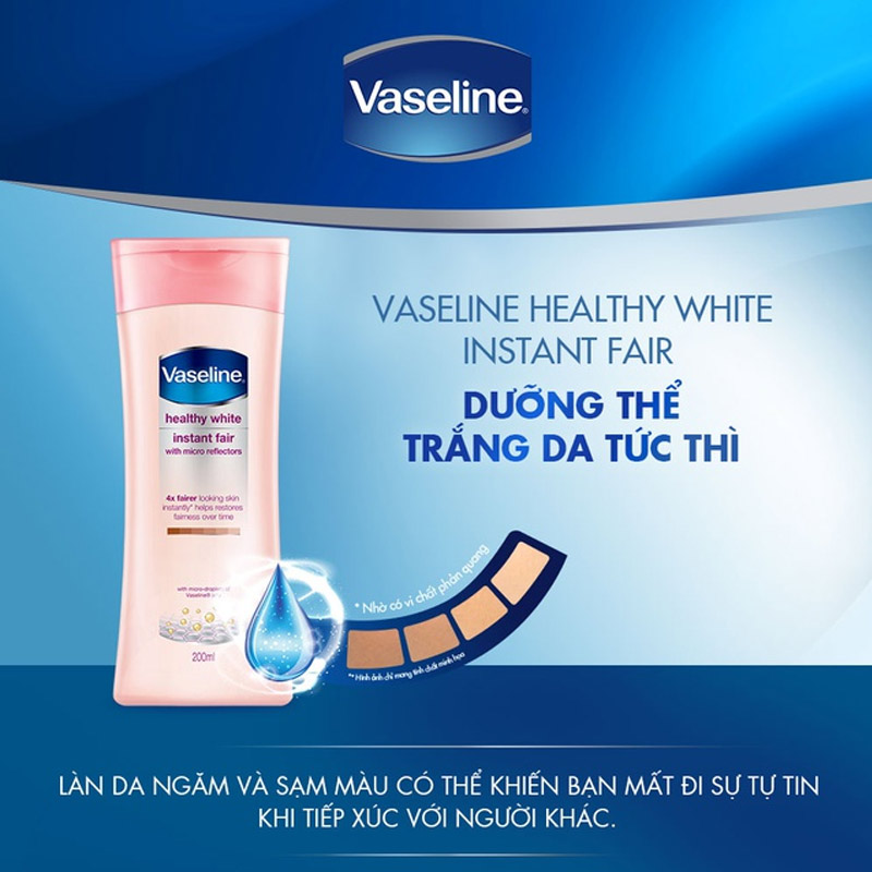 sua duong the vaseline instant fair 5
