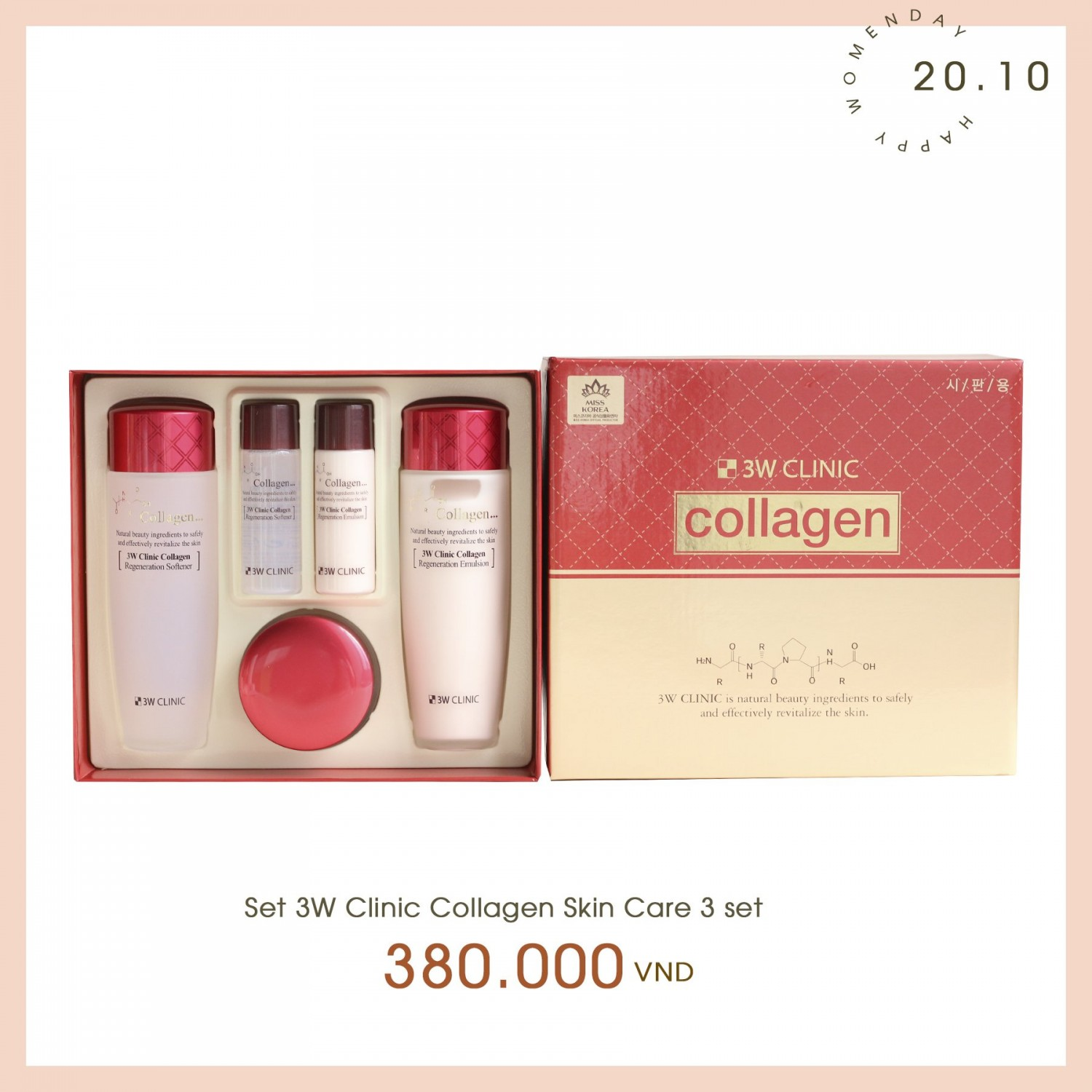 set 3w clinic collagen skin care 1