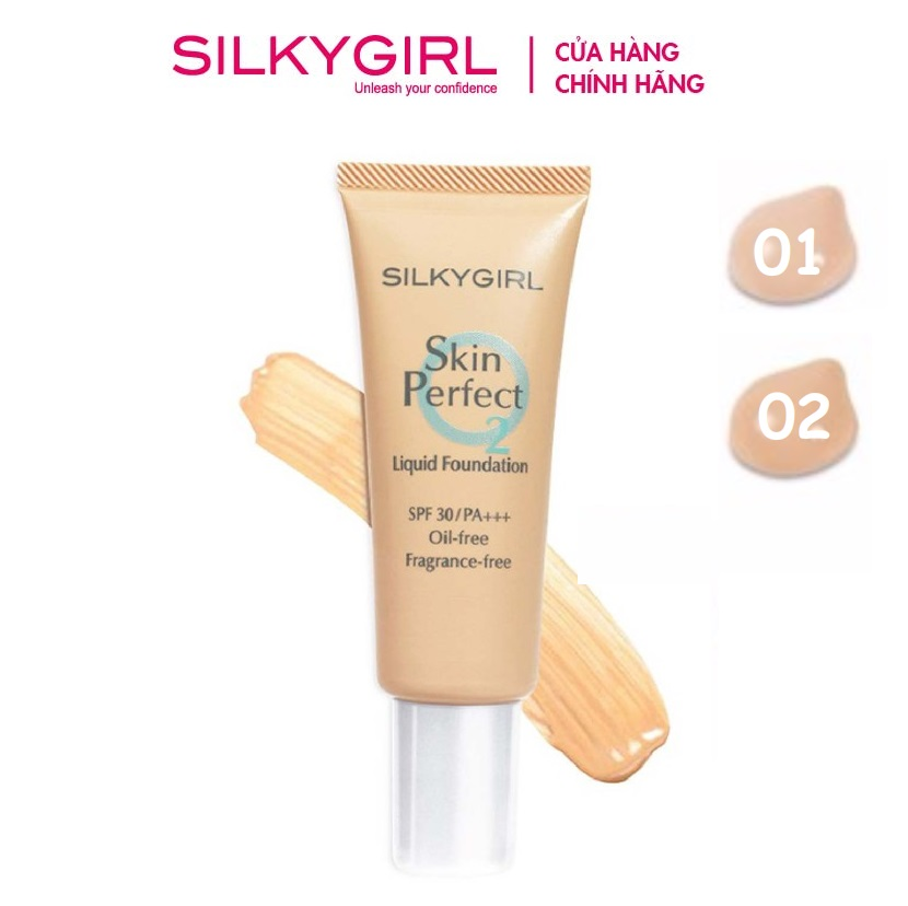 kem nen silkygirl skin perfect liquid foundation 4