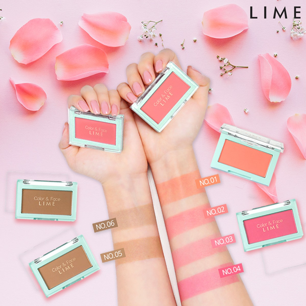 phan ma hong lime color and face single blusher 2