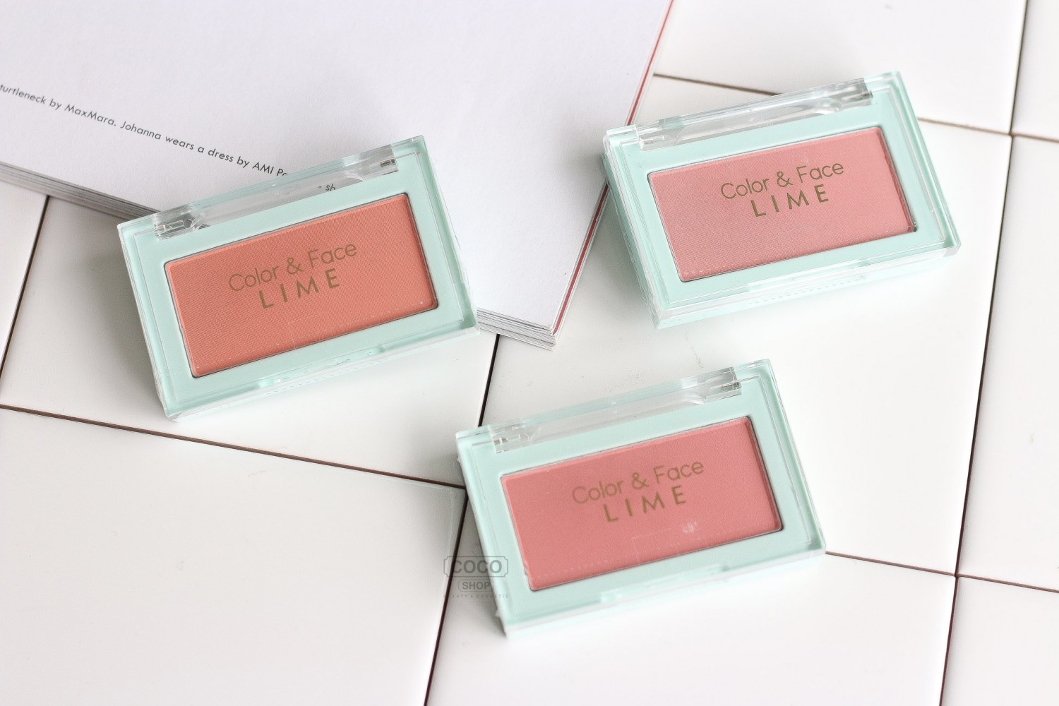 phan ma hong lime color and face single blusher 4