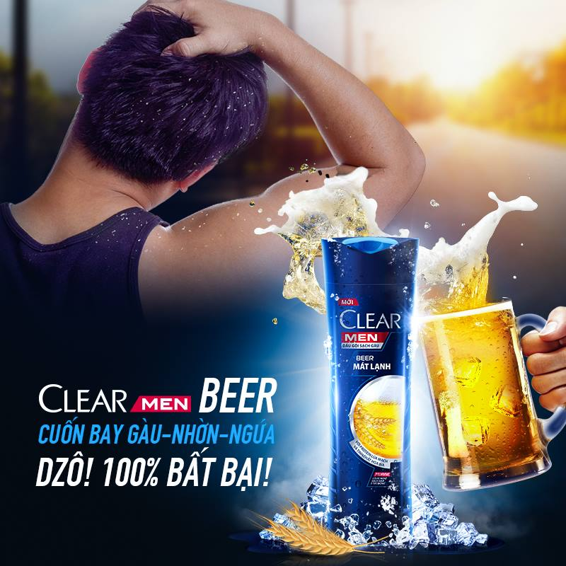 dau goi clear men beer mat lanh 370g 1