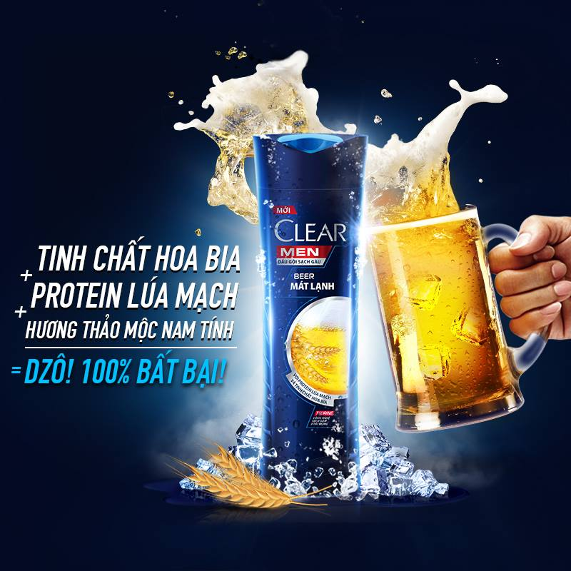 dau goi clear men beer mat lanh 370g 2