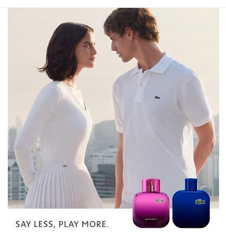 Lacoste Say less play more Caroline Bufalini Ang lik Iffennecker 804 ca